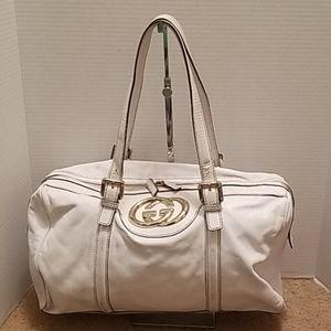 Gucci Leather GG Shoulder Bag